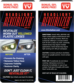 Headlight Revitalizer with G7